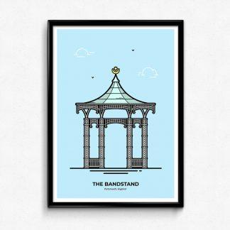 Southsea Bandstand Poster - Portsmouth Travel Poster designed by Christine Wilde