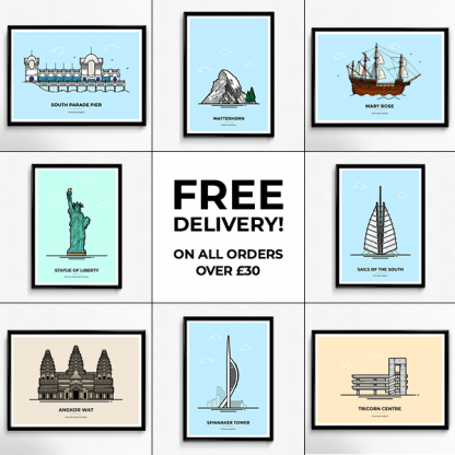 Vault 84 Free Delivery on all Travel Poster orders over £30
