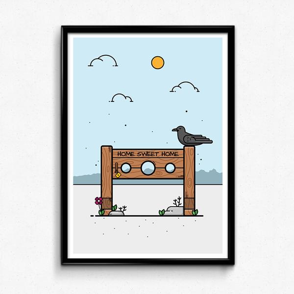 Custom poster illustration designed by Portsmouth based freelance illustrator Christine Wilde