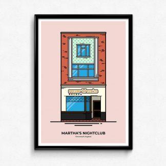 Martha's Nightclub Portsmouth Poster designed by Christine Wilde