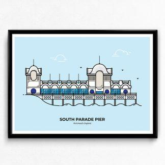 South Parade Pier - Portsmouth Travel Poster designed by Christine Wilde
