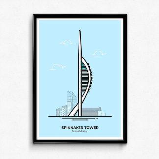 Spinnaker Tower - Portsmouth Travel Poster designed by Christine Wilde