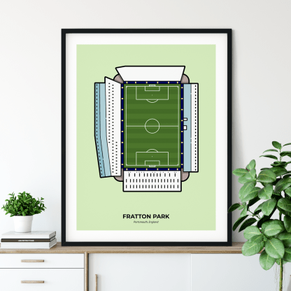 Fratton Park Poster - Portsmouth Travel Poster designed by Christine Wilde