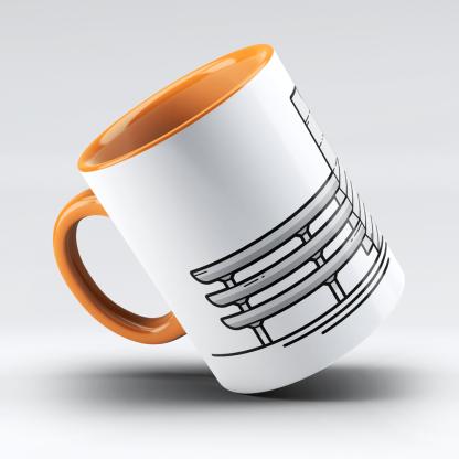 Tricorn Portsmouth Mug designed by Christine Wilde