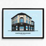 Hampshire Boulevard Nightclub poster designed by Christine Wilde